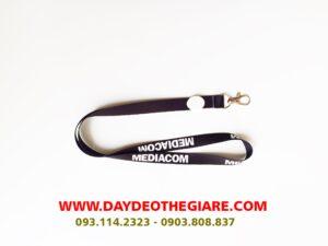 Dây đeo thẻ satin mẫu Mediacom 2