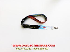 Dây đeo thẻ satin mẫu ĐH XH&NV Tp.HCM 2