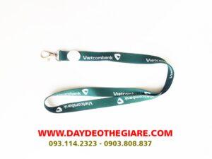 Dây đeo thẻ satin mẫu Vietcombank 2