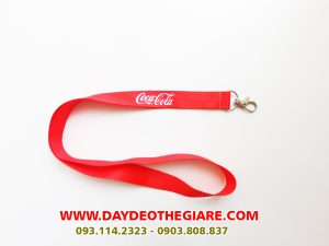Dây đeo thẻ satin mẫu Cocacola 2