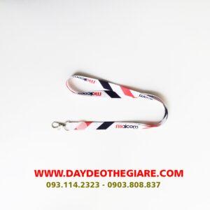 Dây đeo thẻ satin mẫu Maicom 2
