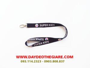 Dây đeo thẻ satin mẫu Super Kid 2