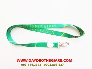 Dây đeo thẻ satin mẫu Dream of Innovation 2