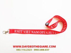 Dây đeo thẻ satin mẫu Rmit Viet Nam 2