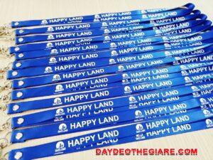 Dây đeo thẻ satin Happy land 1