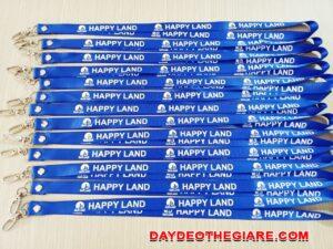 Dây đeo thẻ satin Happy land 3