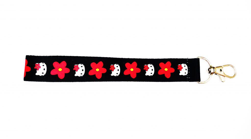 Dây đeo khóa hoa đỏ 2020 1