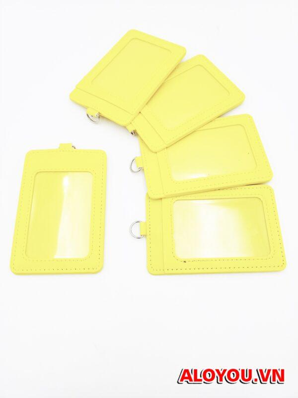 Bao da Simili cao cấp màu vàng 3