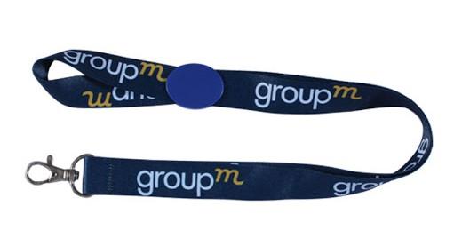 Dây đeo thẻ group xanh 1
